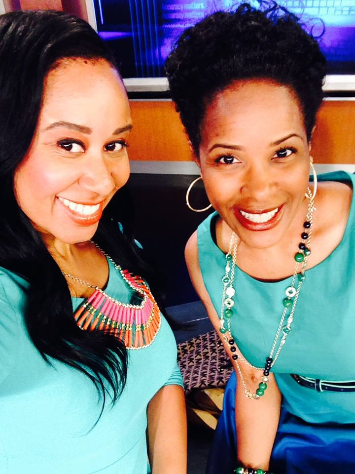 Alabama 13's Ashley Roberts and I took a selfie in the NBC studio before my on-air interview. I decided to wear green because it popped for me. Ashley wore green, too, totally by accident. What a way to usher in spring!