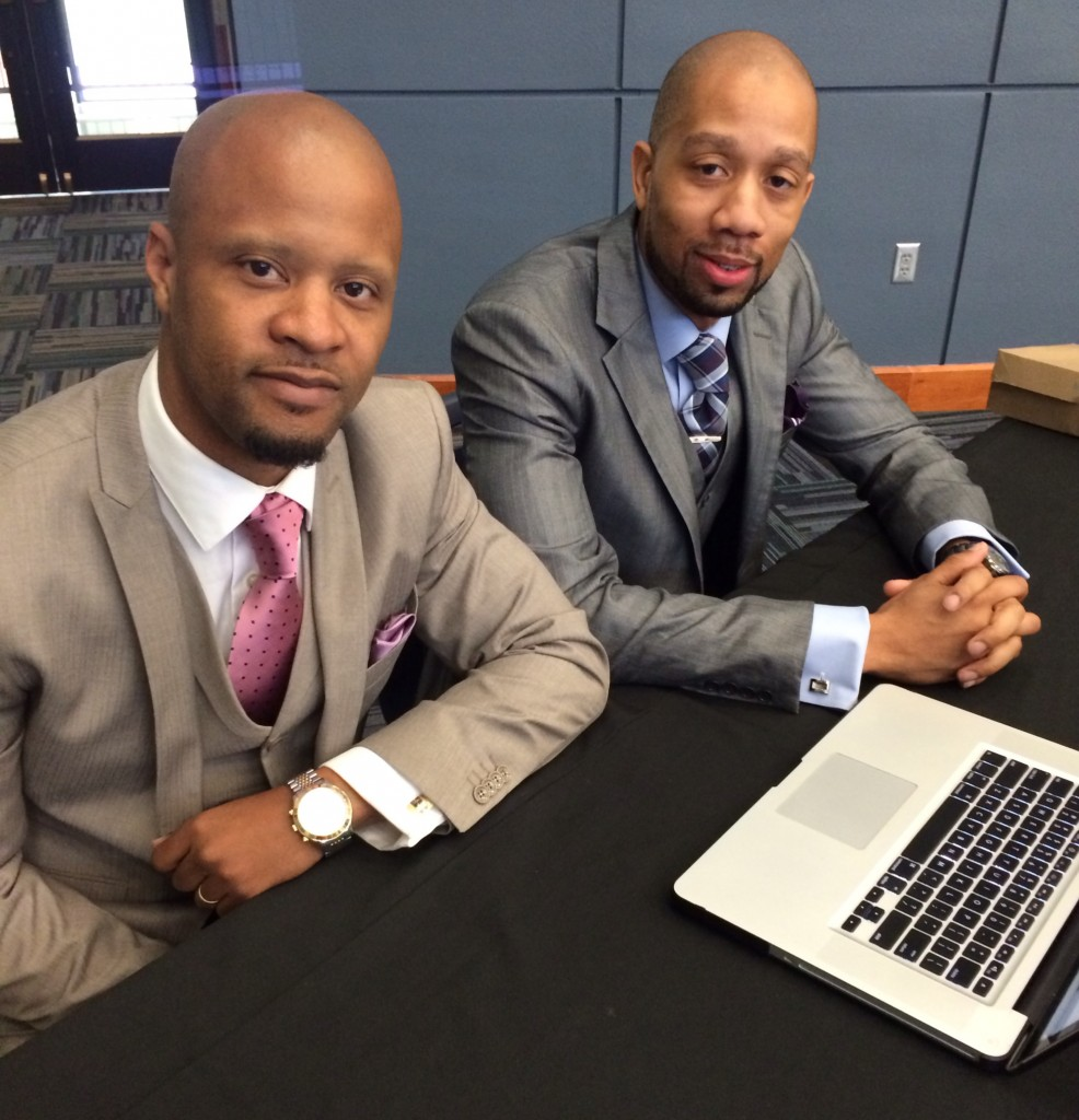 Sherrod Shackleford, left, and LaVon Lewis founded their branding and marketing company, PDG, in a dorm room, 14 years ago. Today, they are handling accounts for major companies. They are based in Atlanta, Ga.