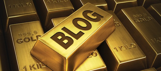 Keep your blog golden with good content.  Image via Flicker/Creative Content.