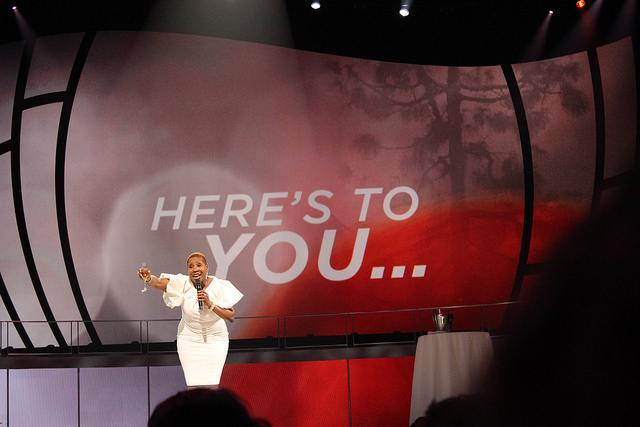 When was the last time you toasted life or yourself? Life coach Iyanla Vanzant does it. Photo by Sonya Boatwright.