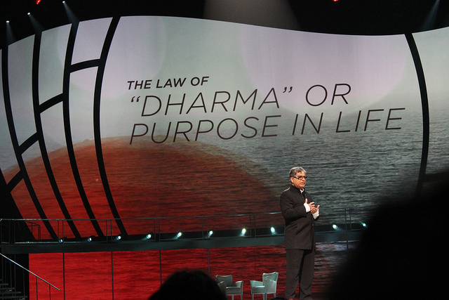"Spiritual leader Deepak Chopra was one of the ""trailblazer'' speakers at Oprah Winfrey's Life You Want Weekend earlier this fall. Photo by: Sonya Boatwright"