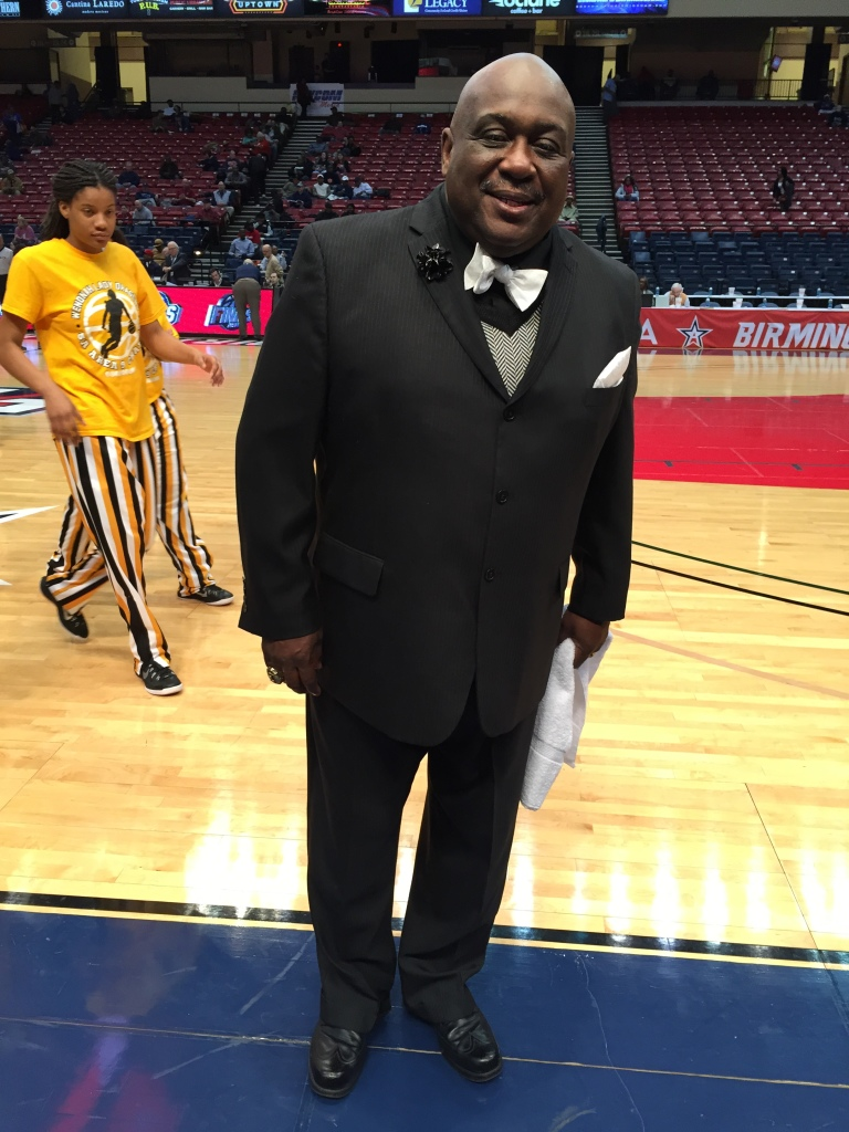 Emanuel Bell, coach for the girls basketball team at Wenonah High School in Birmingham, Ala, always wears a suit to the playoff games. He's won two straight state championships in the last two years. Photo: By Chanda Temple