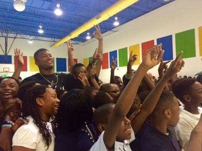No.1 NFL draft pick Jameis Winston made a surprise stop at Birmingham's Ossie Ware Middle School today. (Photo: Chanda Temple)