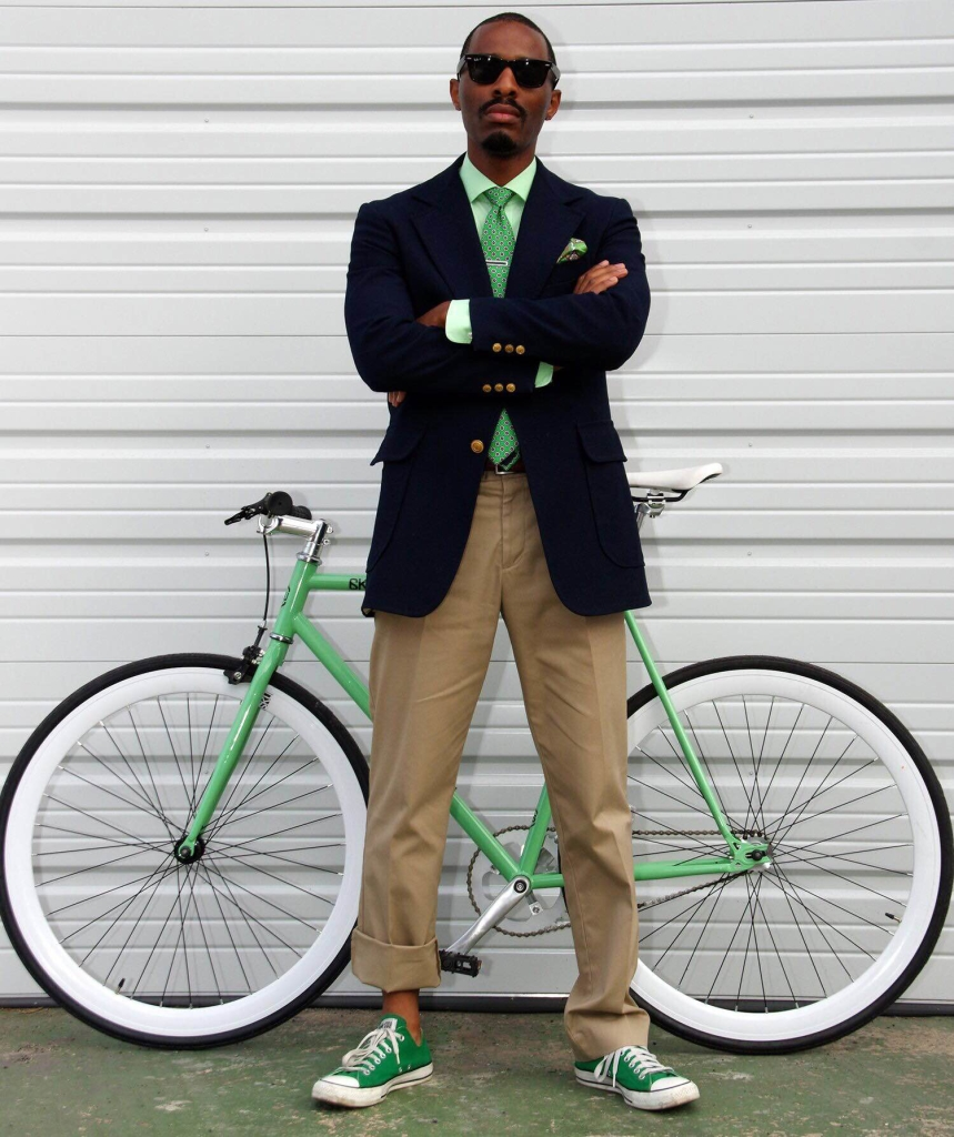 "Burgess ""BJ"" Jeffries started riding a bicycle to work in 2014 to help save the environment and to get fit."