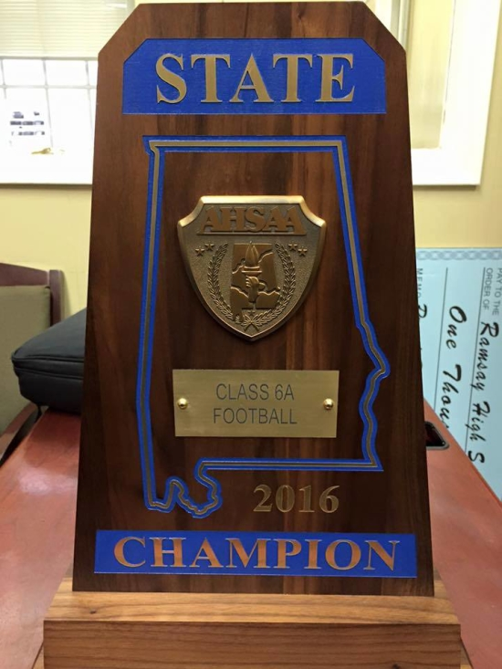 Ramsay's 6A championship trophy