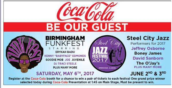 Funk Fest and Steel City Jazz concert tickets are up for grabs for those staying to hear info on how women can be better in business. (Image: Coca-Cola)