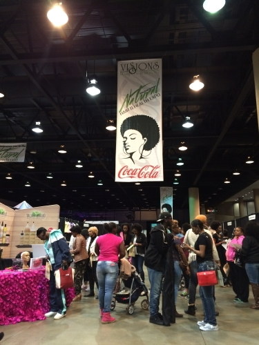 Coca-Cola was one of the sponsors for the Sixth Annual Hair and Health Expo at the BJCC on March 11. (Photo by: Chanda Temple)